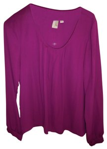 Purple Fun Work Shirt Top Magenta-Purple