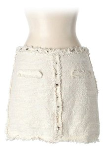 Zara Textured Studded Mini Skirt Ivory
