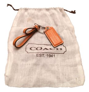 Coach Coach leather Orange Charm