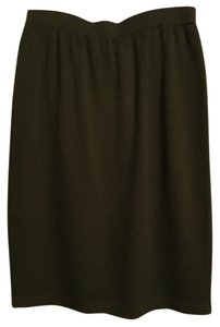 St. John Classic Knit Skirt Army Green