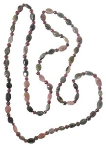 Other Semiprecious Watermelon Tourmaline And Garnet Necklace 30