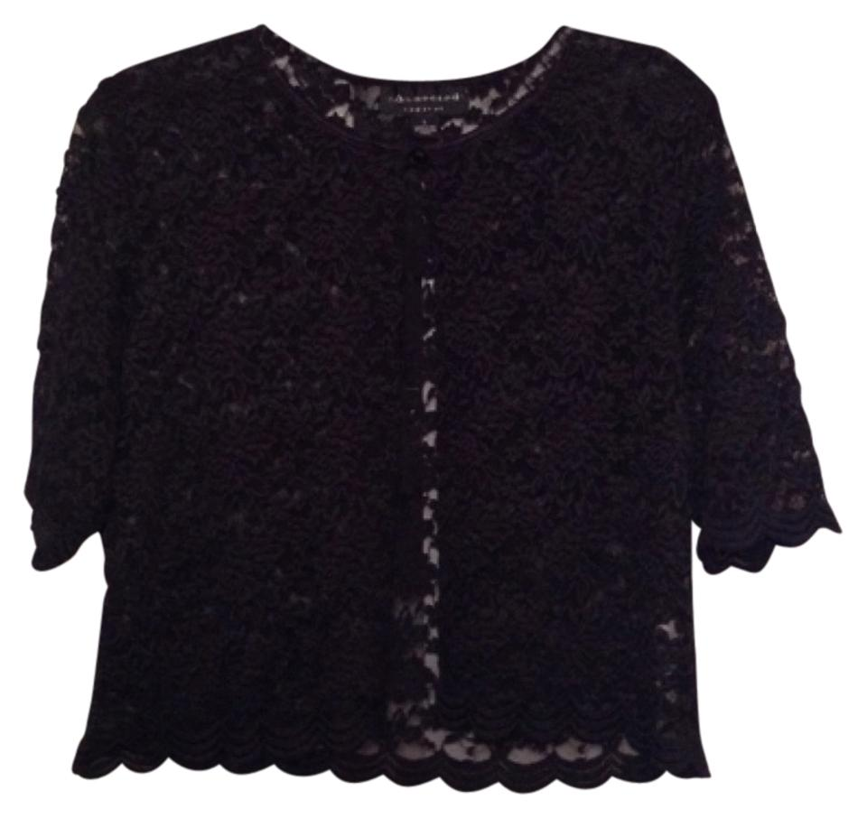 0eb68c804d77 Connected Apparel Black Lace Formal Cardigan Size 14 (L) - Tradesy