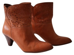 Anthropologie Caramel Boots