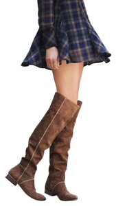 Free People Grandeur Otk Distressed Tan Sz 36 Euro Boots