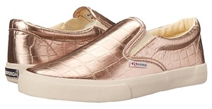 Superga Sllip Ons Size 8 Medium Rose Gold Flats