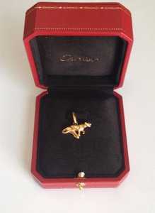 Cartier Cartier 18k Yellow Gold Panthere Pendant Charm Box
