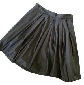 Elie Tahari Skirt Black with Blue & Hand Sewn Beads