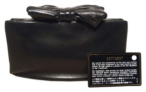 Chanel Lambskin Leather Rare black Clutch