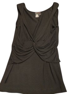 BCBG Paris New Cross Front Detail Top Black