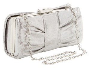 Jessica McClintock Bronze Gold Chain Silver Clutch