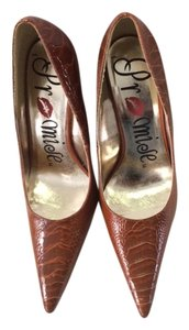 Anthropologie Rust Pumps