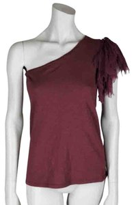 Elizabeth and James T Shirt Burgundy