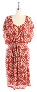 Tracy Reese short dress Red, White Floral Wrap on Tradesy
