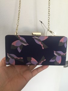 Mango Multi Blue and Purple and Pink Clutch