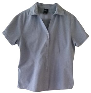 Basic Editions Button Down Shirt Blue
