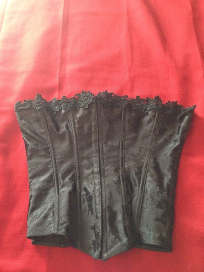 Other Vintage Beautiful Black Appliqu Corset