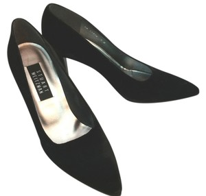 Stuart Weitzman Velvet Cocktail Heels BLACK Pumps