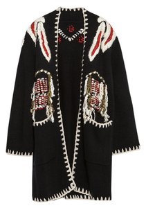 Zara Frayed Fringe Knit Coat Cardigan