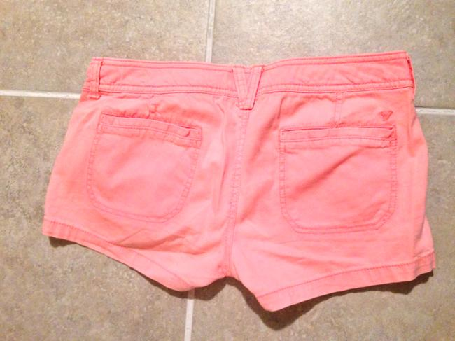 American Eagle Outfitters Zippered Mini/Short Shorts Orange