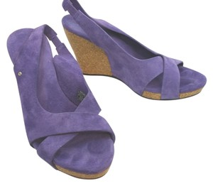 UGG Australia Leather Suede PURPLE Wedges