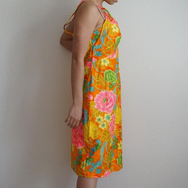 Sears short dress Multicolor Psychedelic Vintage Eon Hippie 60s Floral Sundress Vintage Scooter Hawaiian Floral on Tradesy