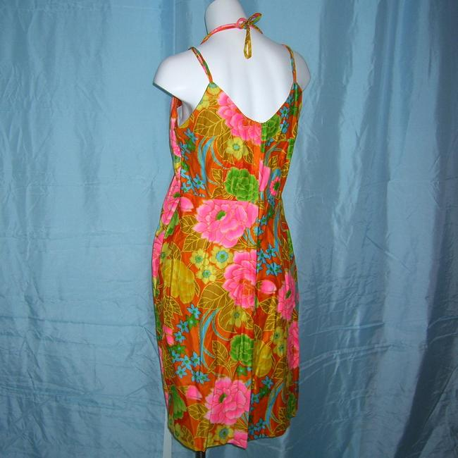Sears short dress Multicolor Psychedelic Vintage Eon Hippie 60s Floral Sun Vintage Scooter Hawaiian Floral on Tradesy