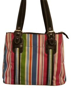 Franco Sarto Tote in Multi-Color Stripes
