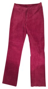 bebe Straight Pants Fuchsia