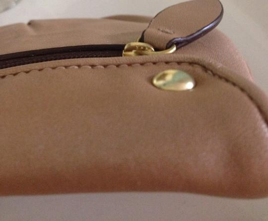 Coach Wristlet in Pearled Metallic Brown
