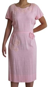 Vintage 50s 60s Applique Lace Dress
