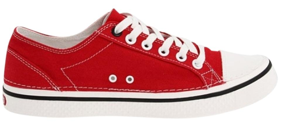 27c9a9204f66f Crocs Red Hover Lace-up From Flats Size US 10 Regular (M, B) - Tradesy