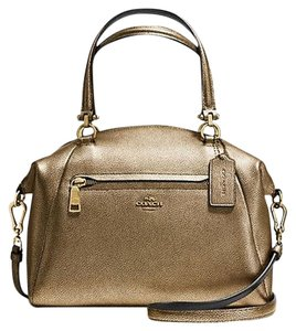 Coach Purse Kelesy 36325 Satchel in Brass Metallic Gold