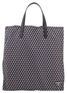 Prada Tote in Grey, Black, Blue