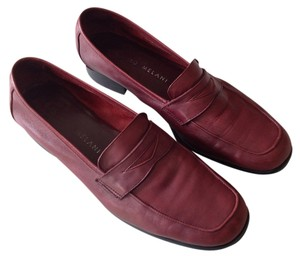 Antonio Melani Leather Crimson Loafer Flats