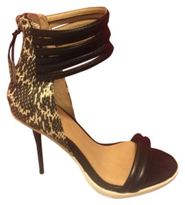 L.A.M.B. Leather Platform Heel Sandal Platforms
