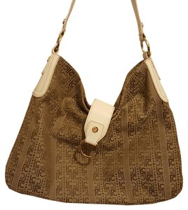 Liz Claiborne Lc Monogramed Patent Leather Tote in Brown