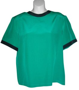 Michelle Stuart Shell Short Sleeves Top Green
