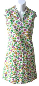 Vintage short dress Multicolor Floral Mini Scooter Hippie Edc Outfit Flower Print on Tradesy