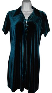 Resource A-line Velvet Short Sleeves Dress