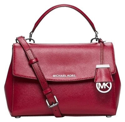 Michael Kors New Ava Small Top Handle Cherry Red Satchel