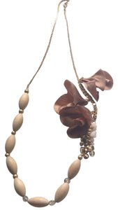 Anthropologie Anthropologie Beaded Crystal Flower Necklace