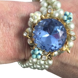 Albert Weiss Blue Ice Rhinestone Bracelet UNSIGNED