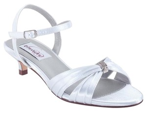 Dyeables Fiesta Sandal Satin Never Dyed Rhinestone Ankle Strap Strappy Sandal Satin Prom Evening Bridal Wedding Jeweled White Pumps