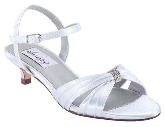 Preload https://img-static.tradesy.com/item/1110140/dyeables-white-fiesta-sandals-satin-pumps-size-us-95-extra-wide-ww-ee-0-0-540-540.jpg
