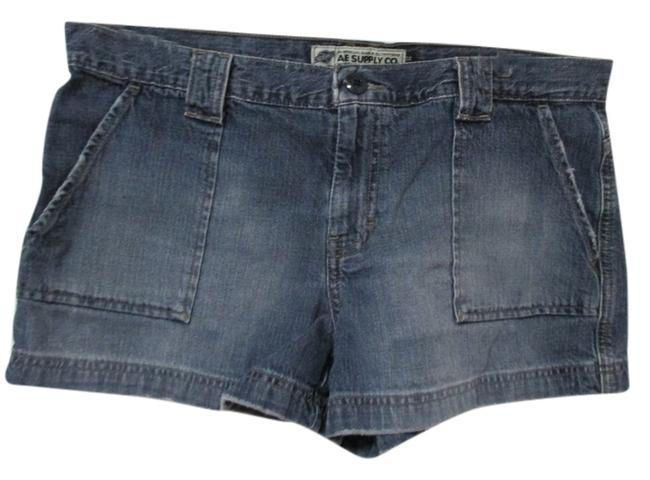 American Eagle Outfitters Size 12 Juniors Denim Shorts-Dark Rinse
