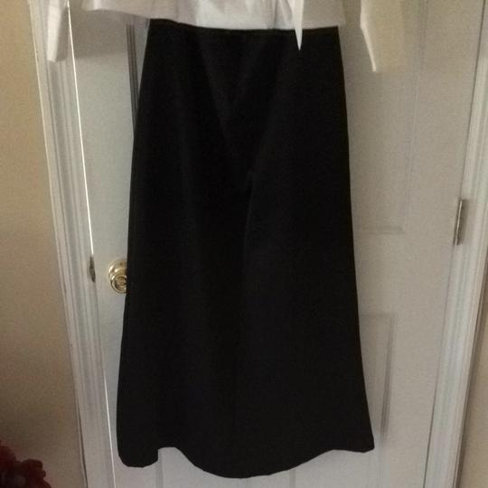 J.R. Nites Top Is White Bottom Is Black Polyester-satin Blend 2 Piece Formal Bridesmaid/Mob Dress Size 14 (L)