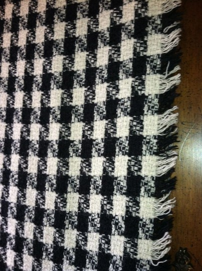 Other Classic Black and White Boucle`Scarf