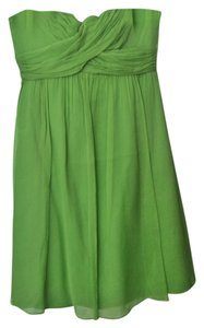 J.Crew Silk Chiffon Strapless Dress