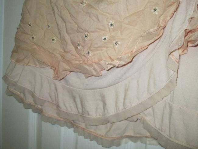 Abercrombie & Fitch Ruffle Wrap Flower Mini Skirt Peach