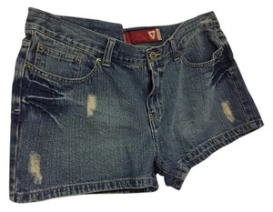 Guess Size 32 Destroyed Denim Shorts-Medium Wash